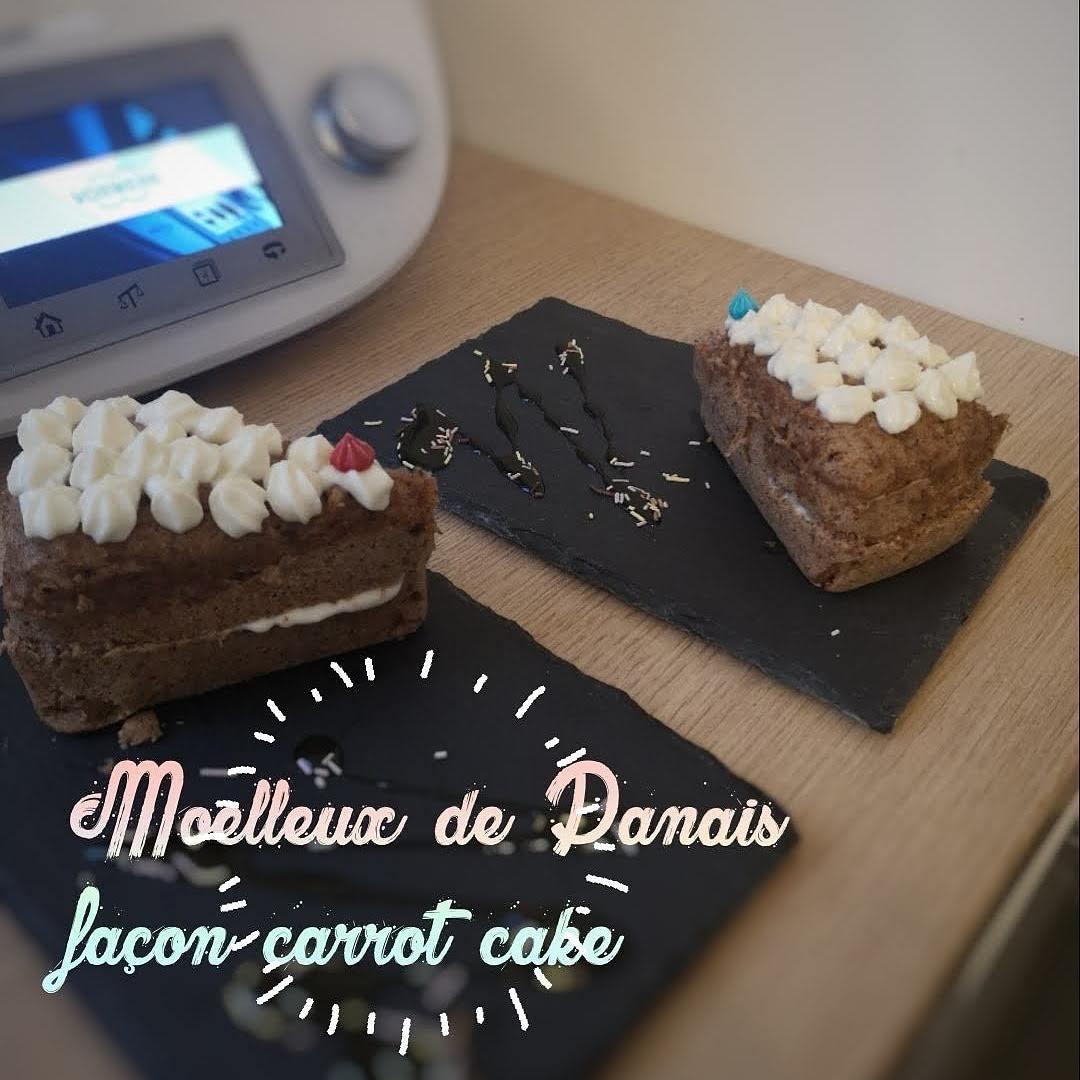 Gateau moelleux de panais à la saveur carrot cake avec cuisson vapeur