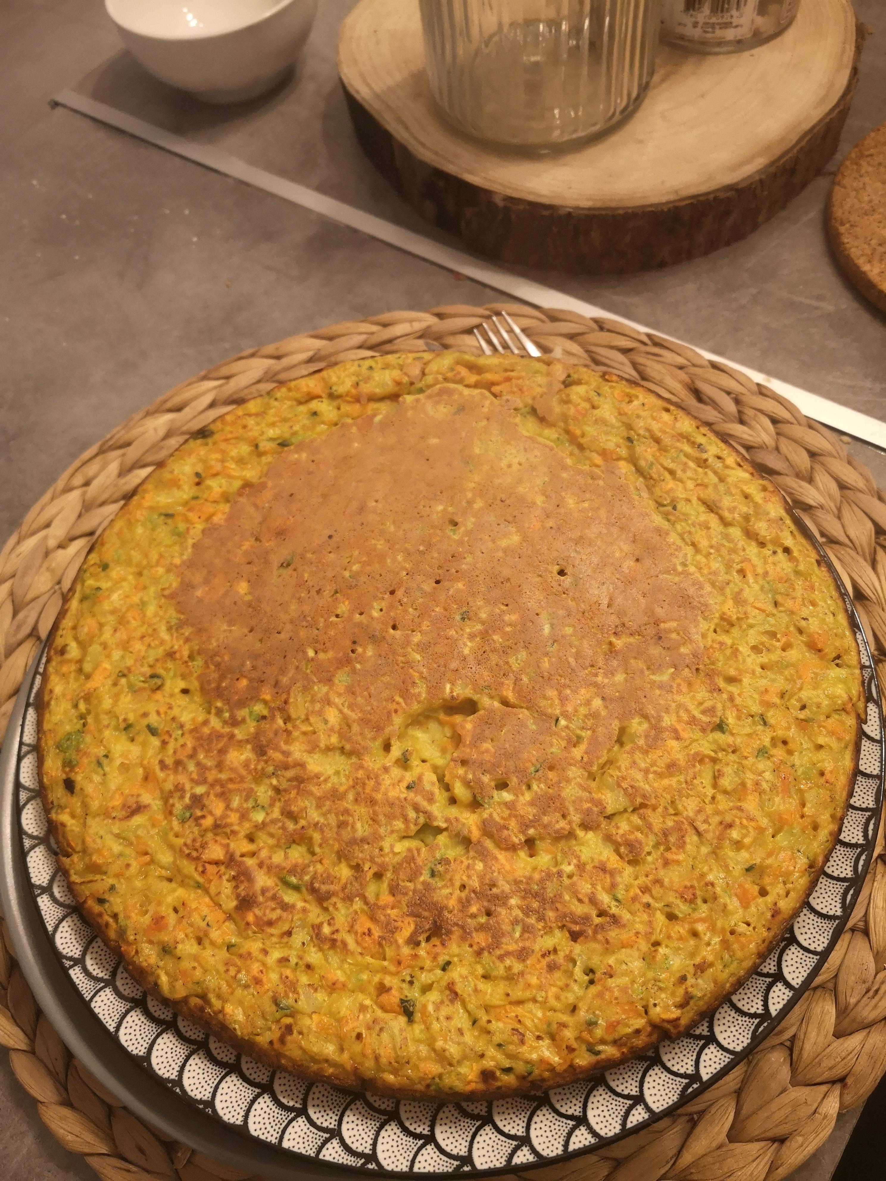 gâteau légumes curry