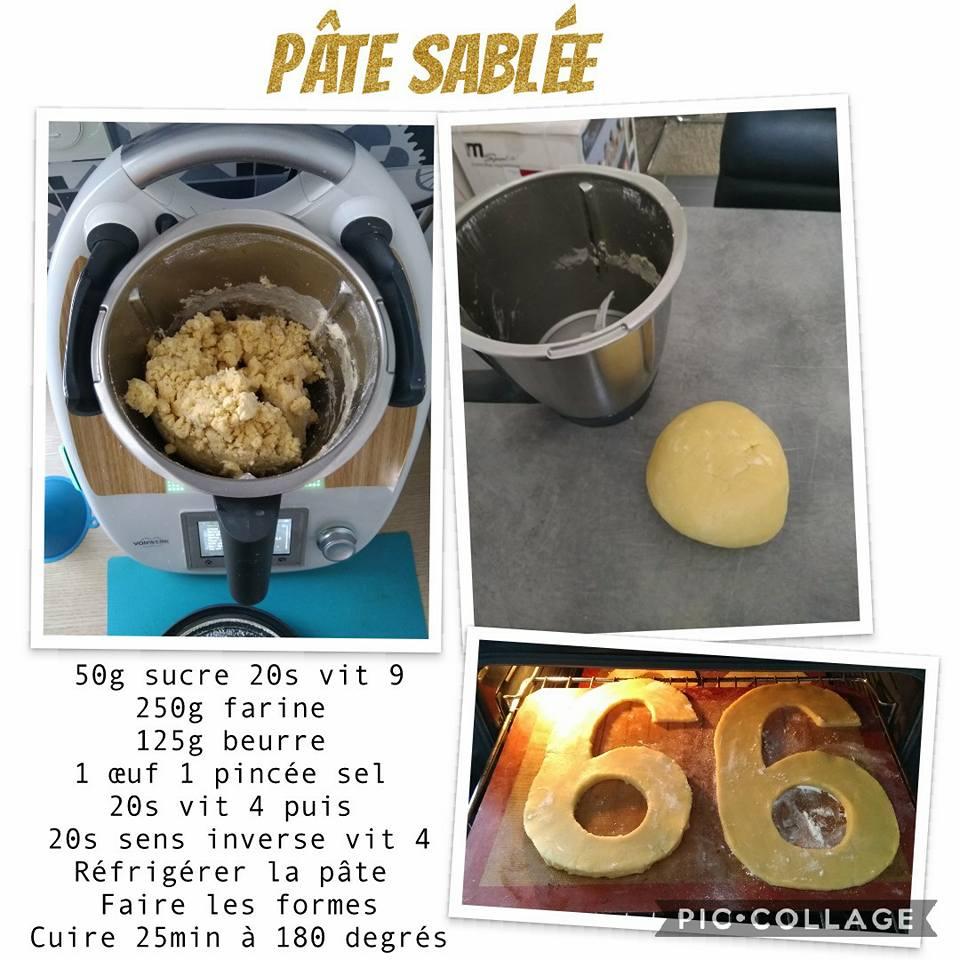 fiche recette pâte sablée